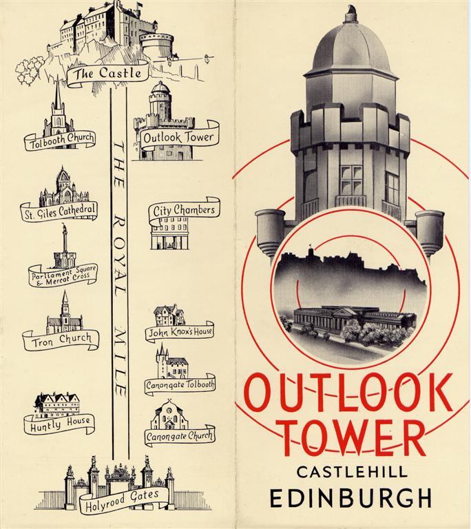 1950s Outlook Tower leaflet cover