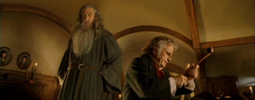 Ames rooms in Lord of the Rings