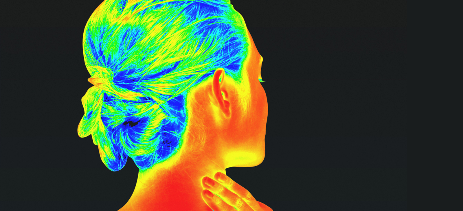 Thermal imaging scan of a person