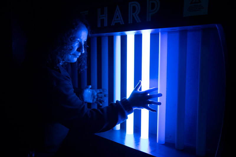 New Light Harp exhibit at Camera Obscura & World of Illusions