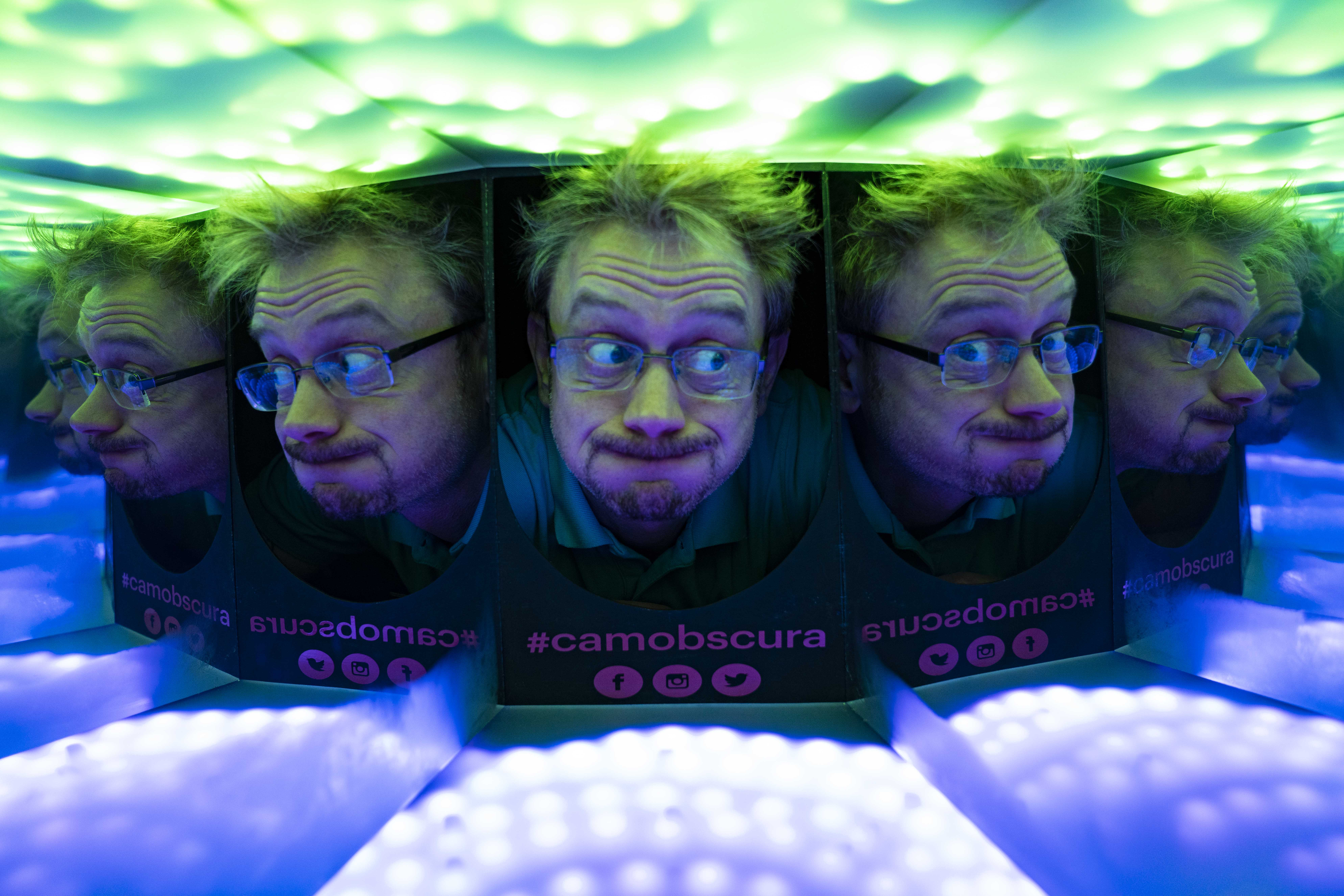 Blaine in the Kaleidohead at Camera Obscura