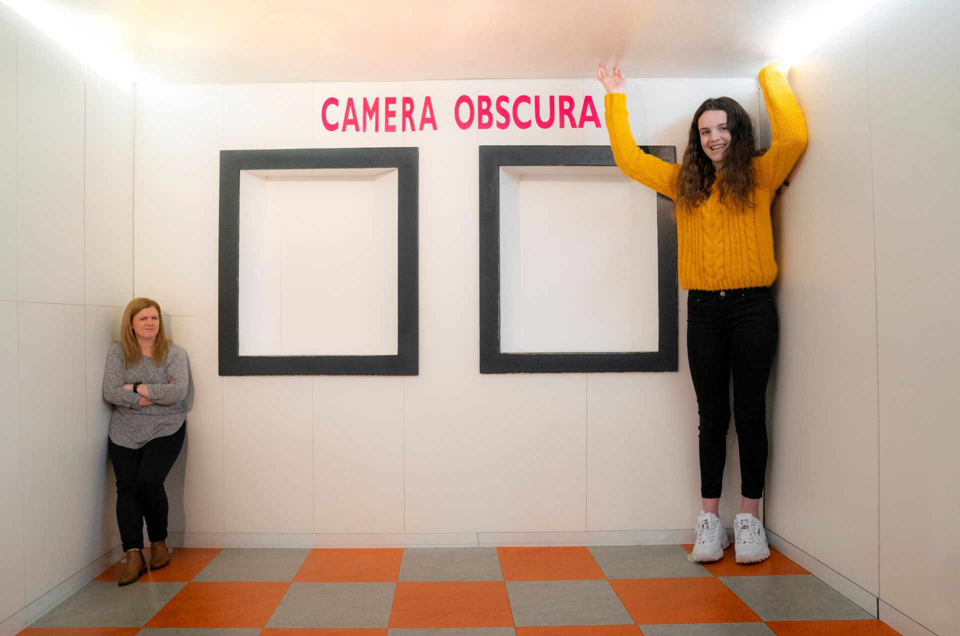 Ames Room at Camera Obscura