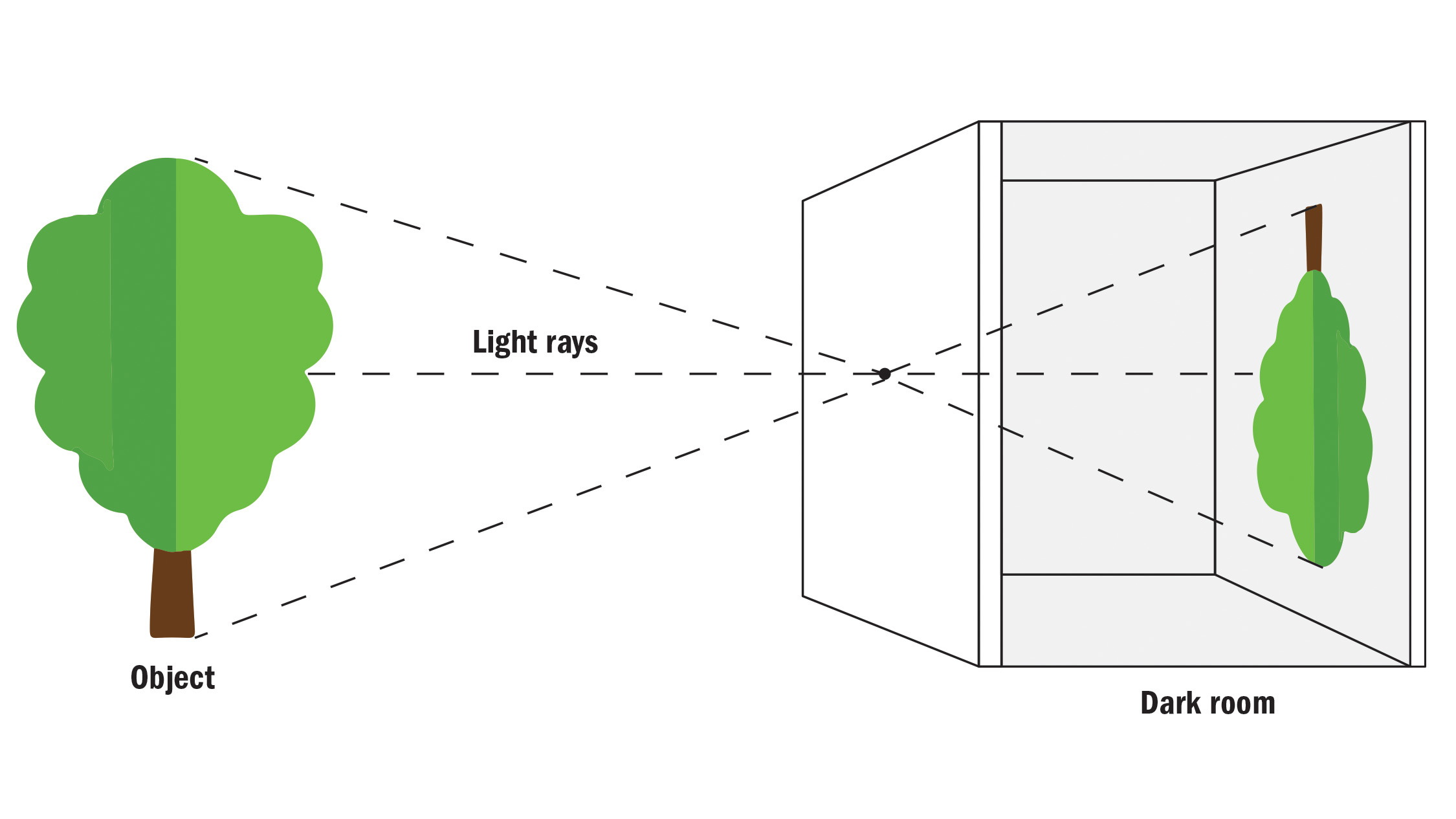 How a camera obscura works