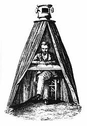 Kepler's camera obscura tent