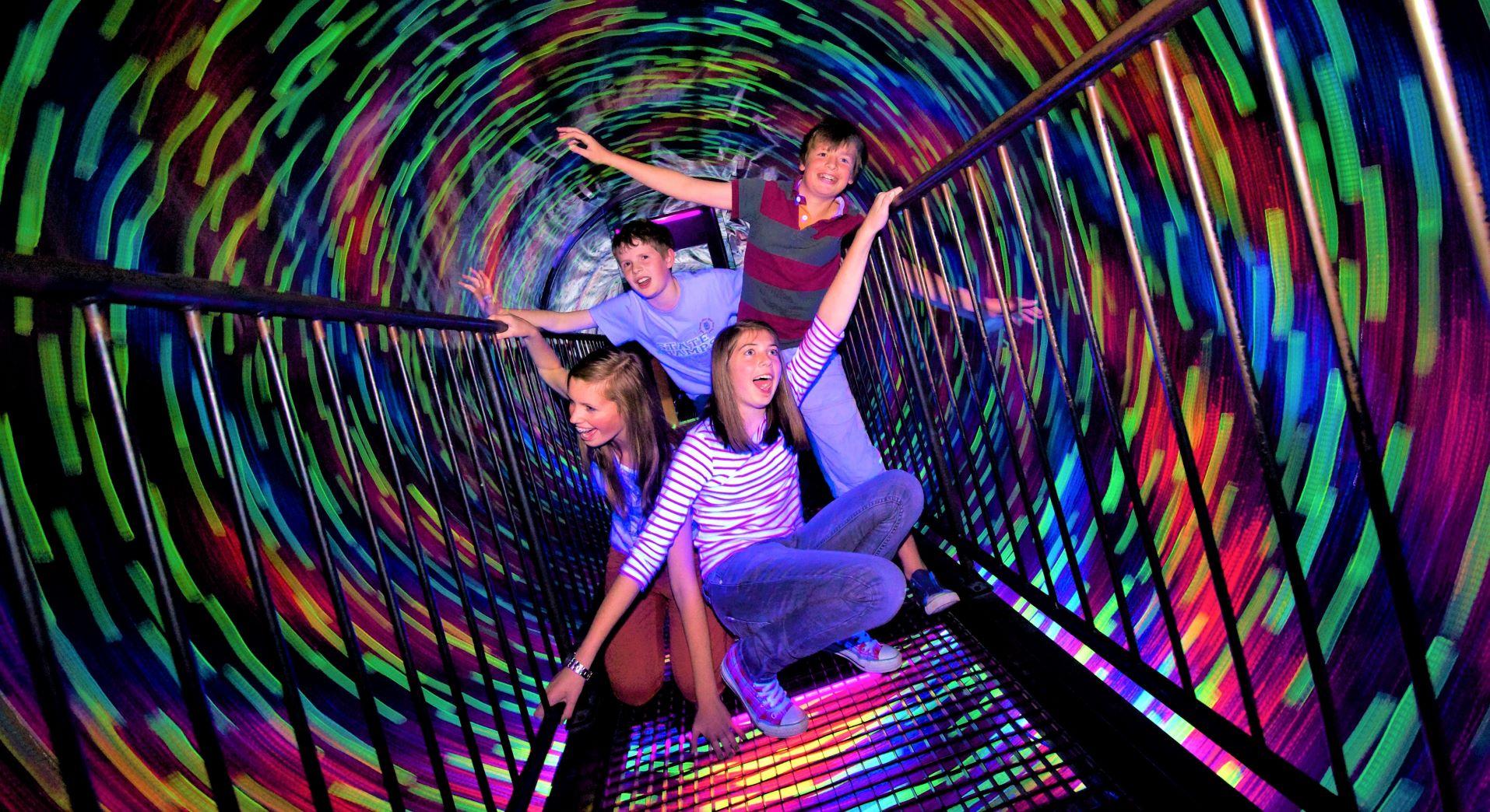 Kids in Vortex Tunnel