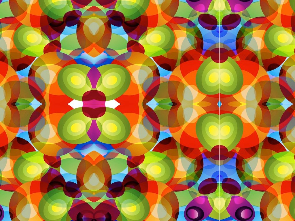 Colourful picture of a kaleidoscope image